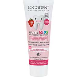 Logodent Organic Strawberry Dental Gel For KIDS 50ml