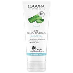 Logona Organik 3'ü 1 Arada Temizleyici 100ml  Göz Makyajı Temizleyici & Temizleme Sütü & Tonik Etkili
