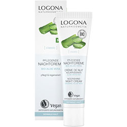 Logona Organic Classic Nourishing Night Cream  Aloe  30ml