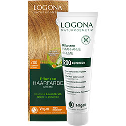 Logona Organic Herbal Hair Colour Cream  200 Copper Blonde