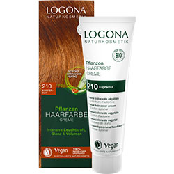 Logona Organik Bitkisel Krem Saç Boyası  210 Bakır Kızılı