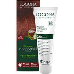 Logona Organik Bitkisel Krem Saç Boyası (220 Bordo)