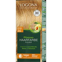 Logona Organik Bitkisel Toz Saç Boyası  010 Altın Sarısı