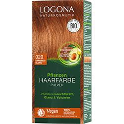 Logona Organik Bitkisel Toz Saç Boyası  020 Karamel Sarısı
