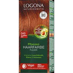 Logona Organik Bitkisel Toz Saç Boyası  040 Ateş Kızılı