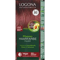 Logona Organik Bitkisel Toz Saç Boyası  050 Maun Kahve