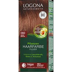 Logona Organik Bitkisel Toz Saç Boyası  060 Fındık Rengi