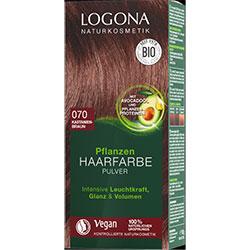 Logona Organik Bitkisel Toz Saç Boyası (070 Kestane)