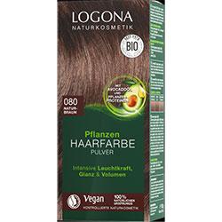 Logona Organik Bitkisel Toz Saç Boyası  080 Doğal Kahve