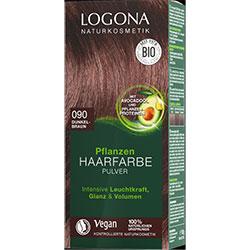 Logona Organik Bitkisel Toz Saç Boyası  090 Koyu Kahve