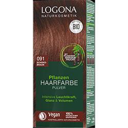 Logona Organik Bitkisel Toz Saç Boyası  091 Çikolata