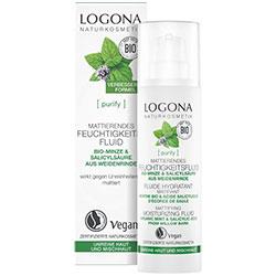 LOGONA Organik Matlaştırıcı Etkili Nemlendirci Fluid  Nane & Salisilik Asit  30ml