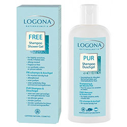 Logona Organic Pure Shampoo & Shower Gel  Sensitive & Irritable Skin  250ml