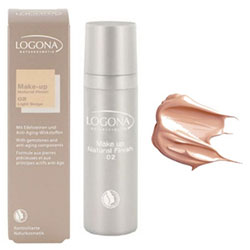 Logona Organic Foundation  Natural Finish   02 Light Beige