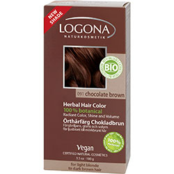 Logona Organik Bitkisel Toz Saç Boyası (Çikolata)