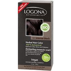 Logona Organik Bitkisel Toz Saç Boyası (Yoğun Siyah)