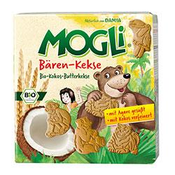 Mogli Organik Ayıcıklı Çocuk Bisküvisi (Hindistancevizi ve Kavılca Buğdaylı) 125gr
