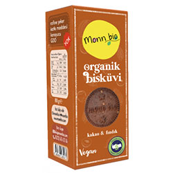 Monn Bio Organik Kakaolu Fındıklı Bisküvi 80gr