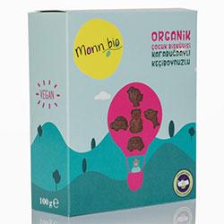 Monn Bio Organik Karabuğdaylı Keçiboynuzlu Çocuk Bisküvisi 100g