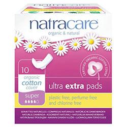 Natracare Organik Ped (Ultra Ekstra, Kanatlı, Süper) 10 adet