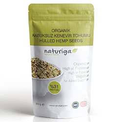 Naturiga Organic Hulled Hemp Seeds 200g