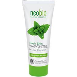 Neobio Organik Canlandırıcı Yüz Yıkama Jeli  Nane & Deniz Tuzu  100ml