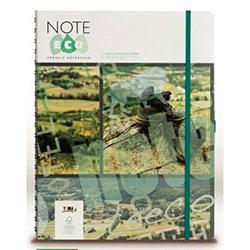 NOTE ECO Ekolojik Sert Kapaklı Defter (Çizgili, 13.2x14.4, K.Yeşil Kapak) 96 Yaprak