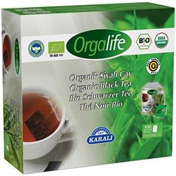 Karali Orgalife Organik Siyah Çay  Bardak Poşet  100 adet