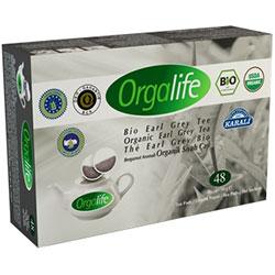 Karali Orgalife Organik Earl Grey  Bergamot Aromalı  Siyah Çay  Demlik Poşet  48 adet