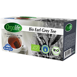 Karali Orgalife Organik Earl Grey (Bergamot Aromalı) Siyah Çay (Bardak Poşet) 25 adet
