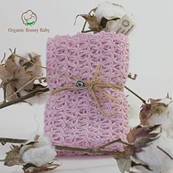 Organic Bonny Baby Organik El Yapımı Banyo Lifi (Pembe, 25cm)