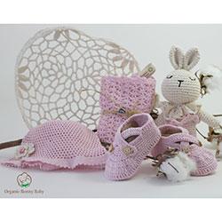 Organic Bonny Baby Organik El Yapımı Hediye Seti  Pembe