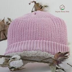 Organic Bonny Baby Organik El Yapımı Şapka (0-2 Yaş, Pembe)