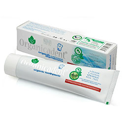Organicadent Organik Diş Macunu (Zeytin Özü + Misvak + Propolis + Çay Ağacı, Florürsüz) 75ml
