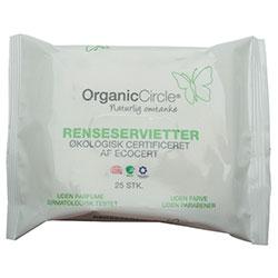 Organic Circle Organik Yüz Temizleme Mendili (Aloe Vera ve Zeytinyağı) 25 adet