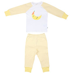 OrganicKid Organik Pijama Takımı (Ay Dede, Sarı, 3 Yaş)