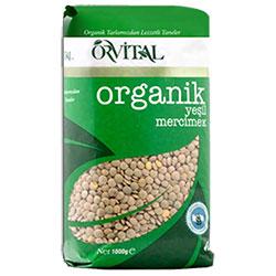 Orvital Organik Yeşil Mercimek 1 Kg