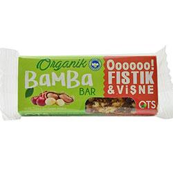 OTS Organik Bamba Bar (Fıstık & Vişne) 30gr