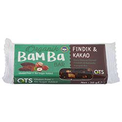 OTS Organic Bamba Fruit Bar  Hazelnut & Cacao  30g