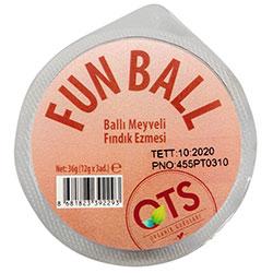 OTS Organic Fun Ball  Hazelnut with Fruits & Honey  36g