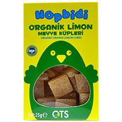 OTS Organik Hopbidi Limon Meyve Küpleri  Yumuşak Şeker  25g