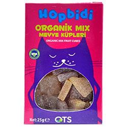 OTS Organik Hopbidi Mix Meyve Küpleri (Yumuşak Şeker) 25gr