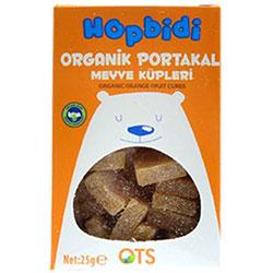 OTS Organik Hopbidi Portakal Meyve Küpleri  Yumuşak Şeker  25g