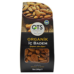 OTS Organic Shelled Almond 200g