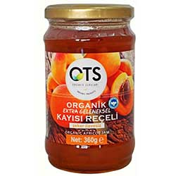 OTS Organic Apricot Jam  Extra Traditional  360g