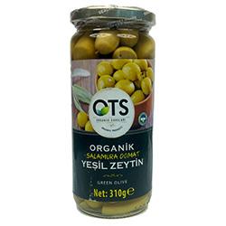 OTS Organik Salamura Domat Yeşil Zeytin (Orta Boy) 310gr