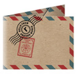 Refogrami Kraft Origami Cüzdan  Postcard