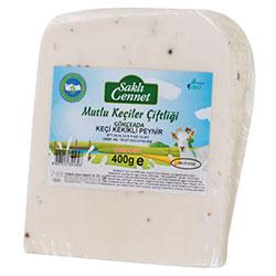 Saklı Cennet Organik %100 Keçi Sepet Peyniri (Kekikli) 400gr
