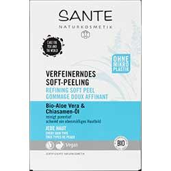 SANTE Organik Arındırıcı Yumuşak Peeling (Tüm Cilt Tipleri, Aloe Vera & Chia Tohumu) 2x4ml