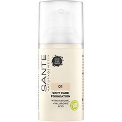 SANTE Organic Soft Care Foundation  01 Warm Linen  30ml